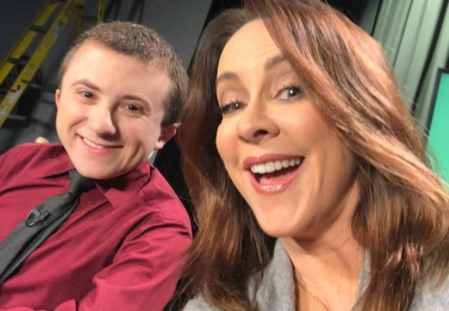 Atticus Shaffer and Patricia Heaton as seen in December 2017