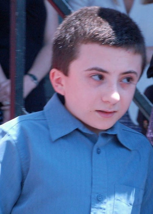 Atticus Shaffer at a ceremony in May 2012