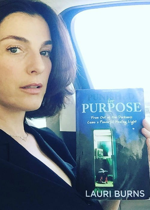 Ayelet Zurer promoting Punished for Purpose book in an Instagram post in May 2017