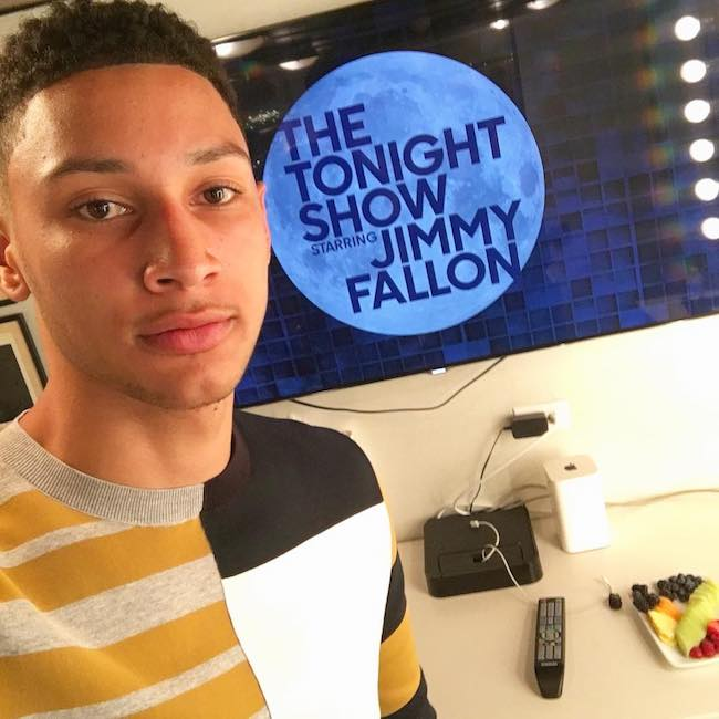 Ben Simmons at The Tonight Show Starring Jimmy Fallon in June 2016