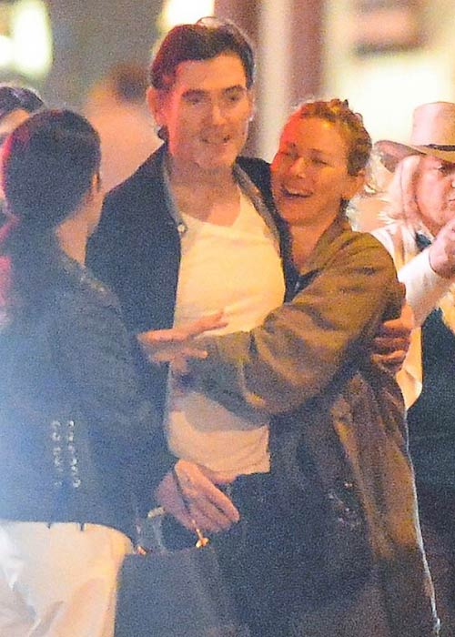 Billy Crudup and Naomi Watts hanging out together in New York in 2018