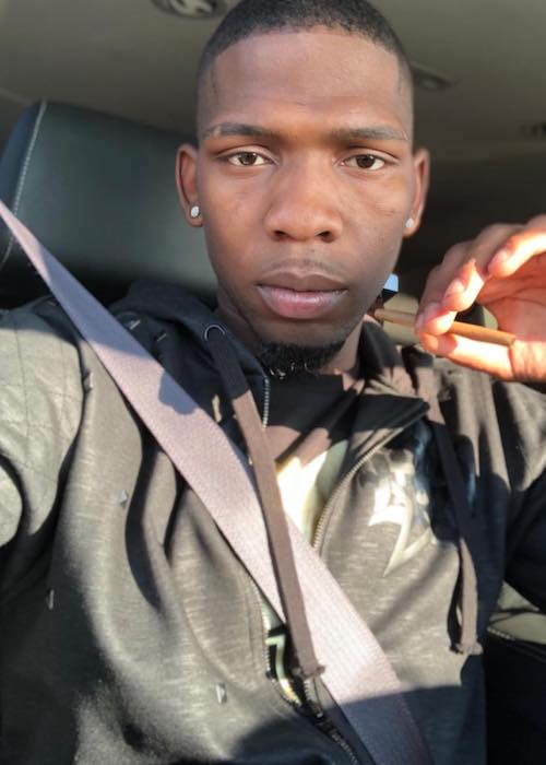 BlocBoy JB in a car selfie in April 2018