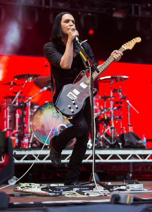 Brian Molko at Rock'n'Heim Rock Festival at Hockenheim in August 2014