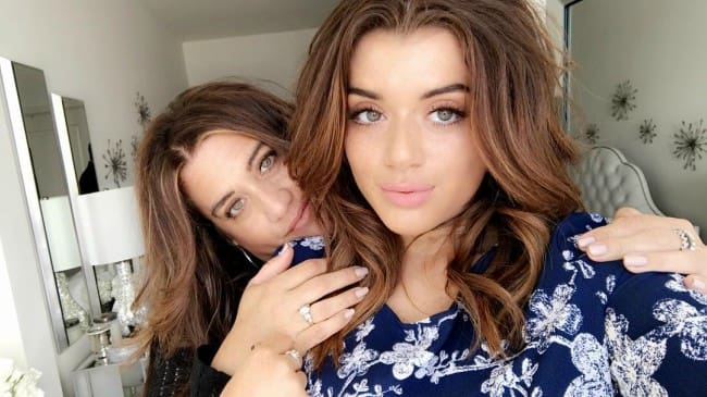 Brielle Barbusca in a selfie with her mother in May 2018