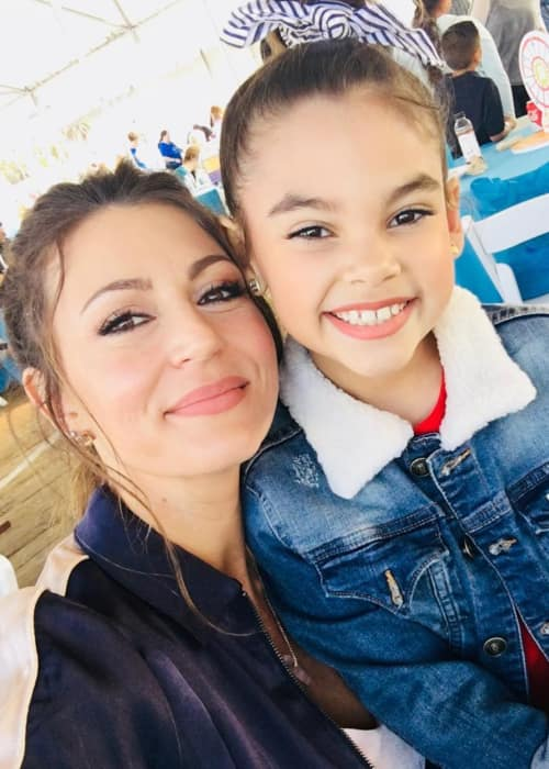 Cerina Vincent (Left) and Ariana Greenblatt as seen in April 2018