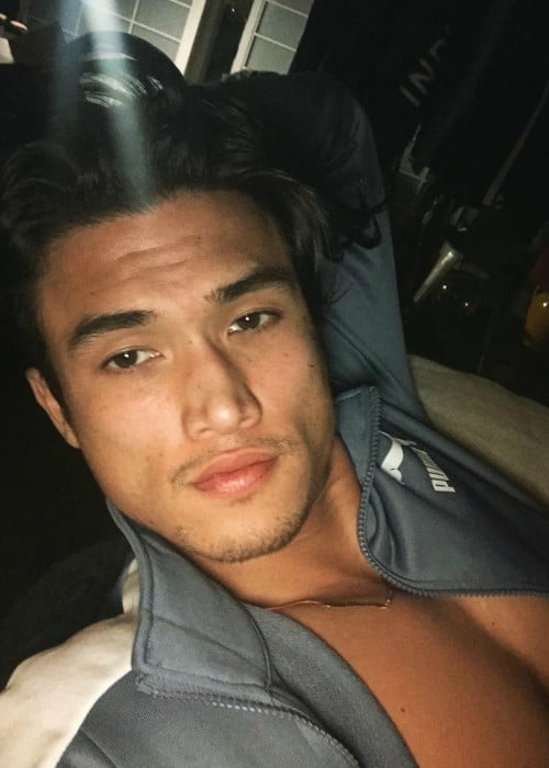 Charles Melton in a selfie in February 2018