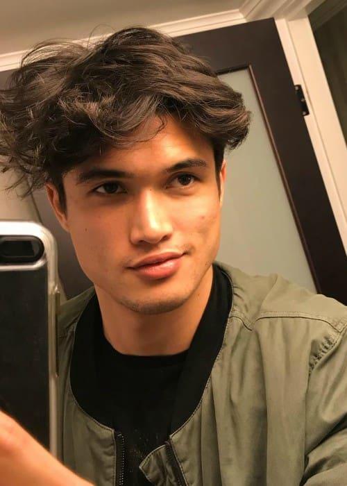 Charles Melton in an Instagram selfie as seen in March 2018