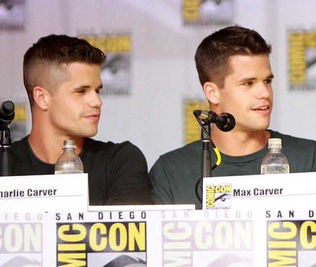 Charlie Carver (Left) and Max Carver as seen in July 2013