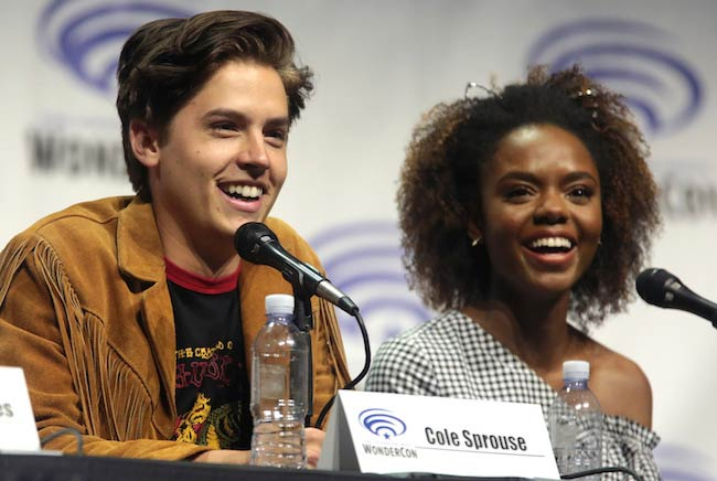 Cole Sprouse (Left) and Ashleigh Murray at the 2017 WonderCon