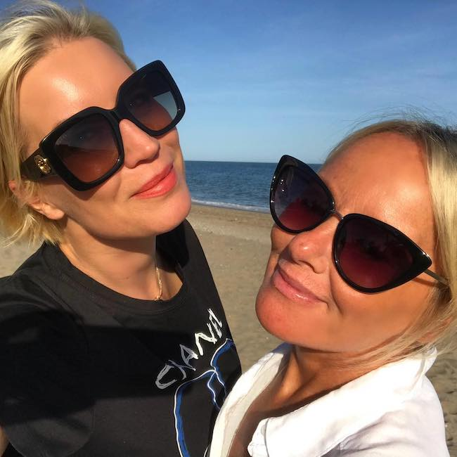 Denise van Outen and Tamara at Olivia's La Cala Restaurant in April 2018