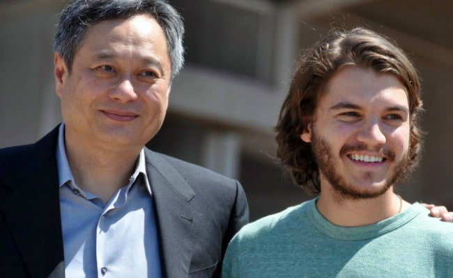 Emile Hirsch (Right) and Ang Lee at the Cannes film festival in 2009