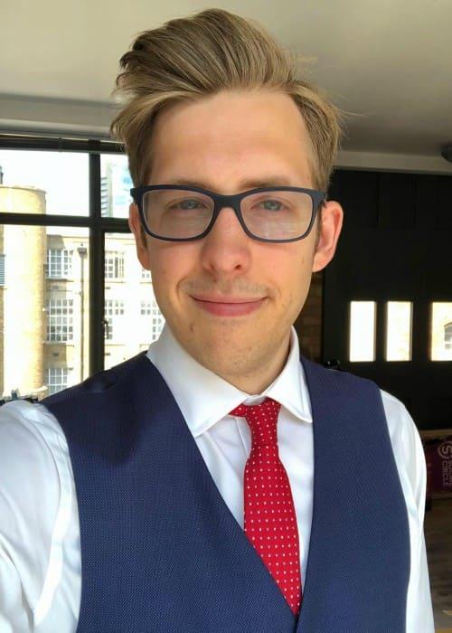 Evan Edinger in an Instagram selfie as seen in May 2018