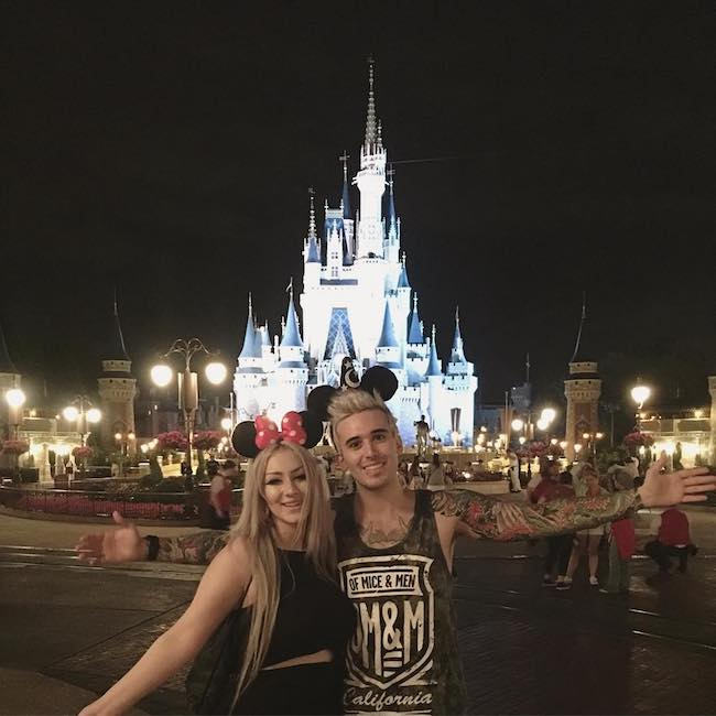 Frank Gioia and Evangeline DeMuro at Disney's Magic Kingdom in April 2016