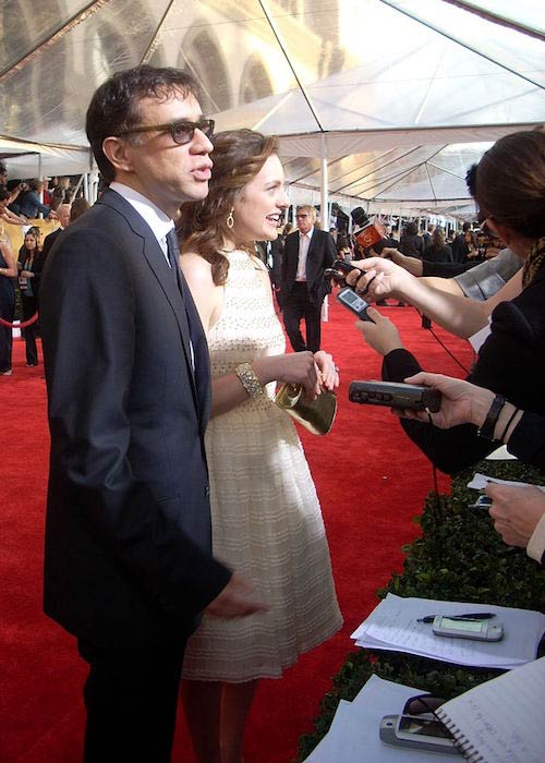 Fred Armisen and Elizabeth Moss at the 15th Screen Actors Guild Awards in 2009