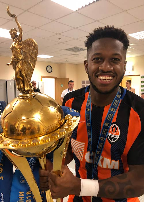 Fred after winning the Ukraine Cup title in May 2018