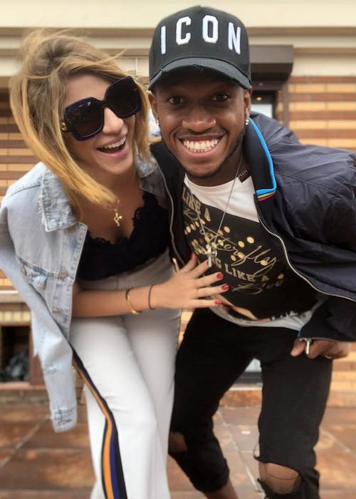 Fred with girlfriend Monique Salum at Kyiv, Ukraine in May 2018