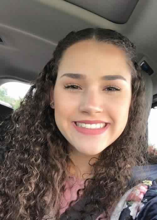 Gracie Haschak in an Instagram selfie as seen in May 2018