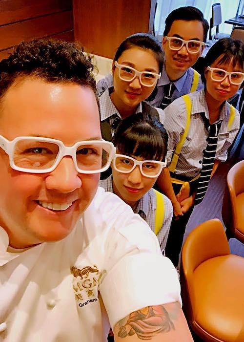 Graham Elliot in a selfie at MGM Macau in April 2018