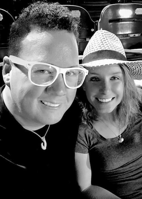 Graham Elliot with spouse Allie Elliot in June 2018