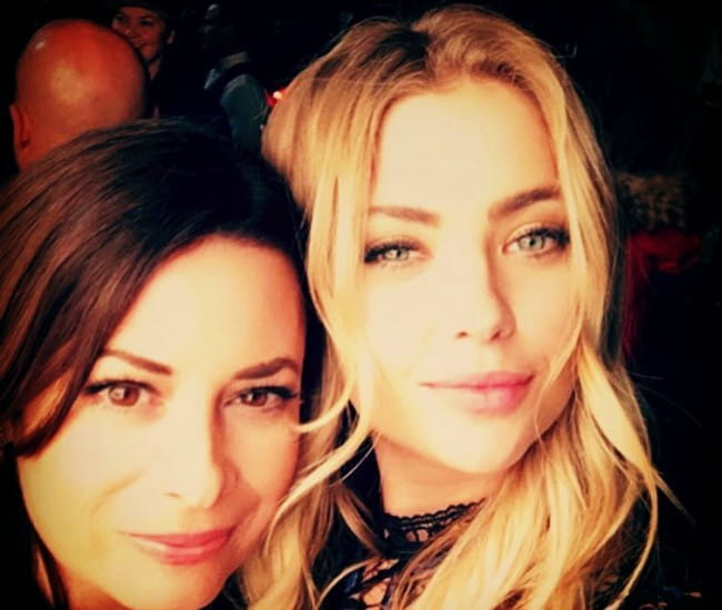 Holly Marie Combs (Left) and Ashley Benson in a selfie in October 2016