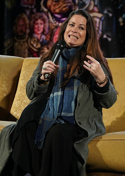Holly Marie Combs as seen in February 2020