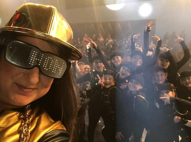 Honey G while performing at the charity Once Upon a Smile in April 2018