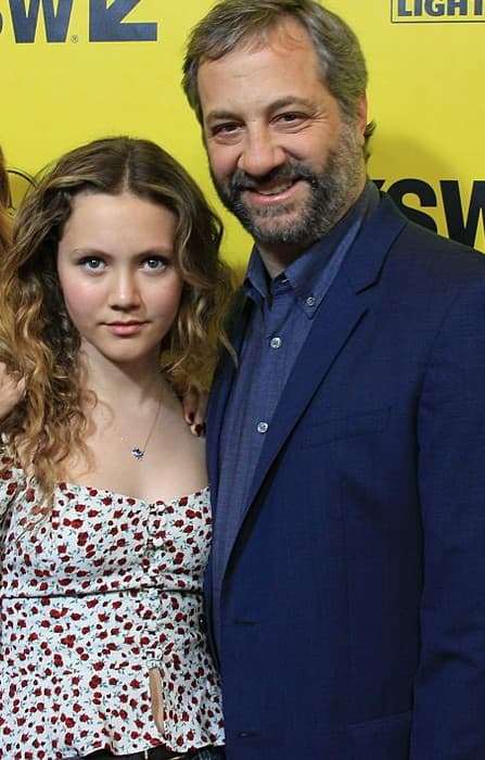 Iris Apatow and Judd Apatow at the SXSW red carpet in March 2018