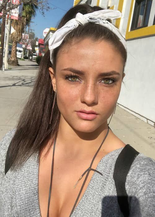 Jade Chynoweth in a selfie as seen in April 2018