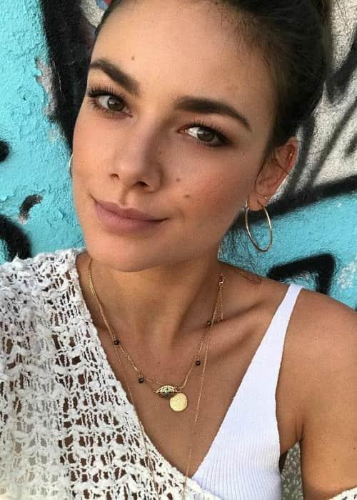 Janina Uhse in an Instagram selfie as seen in October 2017