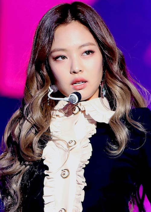 Jennie Kim during SAF SBS Gayo Daejun in December 2016