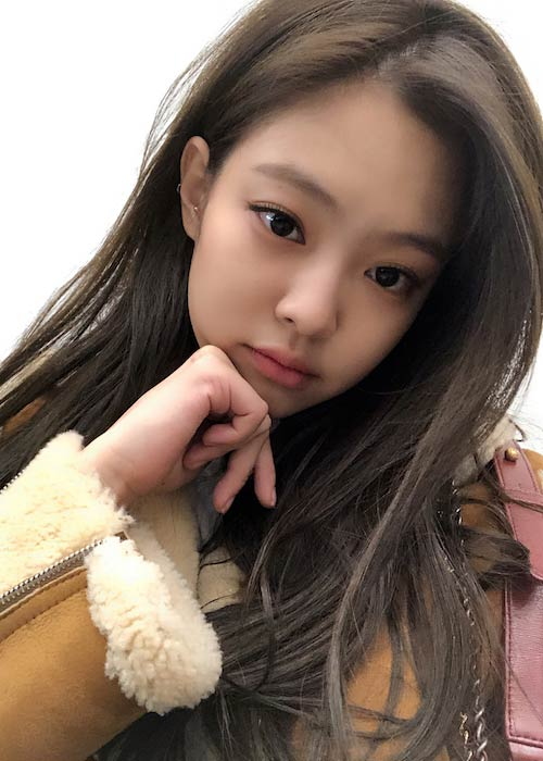 Jennie Kim in an Instagram selfie in 2018