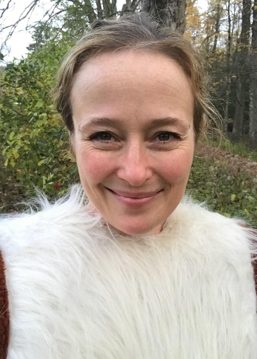 Jennifer Ehle in an Instagram selfie in October 2017