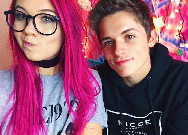 Jessie Paege with Dylan Dauzat as seen in October 2016
