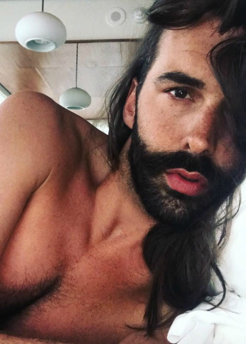 Jonathan Van Ness in a selfie in May 2018