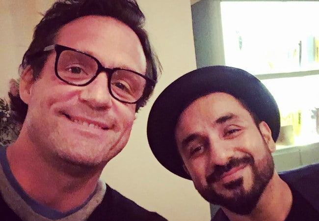 Josh Hopkins (Left) and Vir Das in a selfie in March 2018