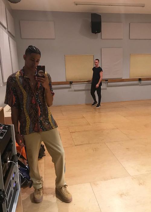 Keiynan Lonsdale while rehearsing for Kiss The Boy music video in April 2018