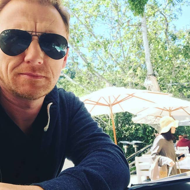 Kevin McKidd in a day selfie in April 2018
