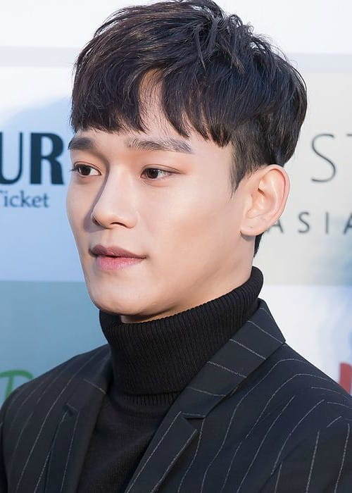 Kim Jong-dae at Gaon Chart K-pop Awards red carpet in February 2016