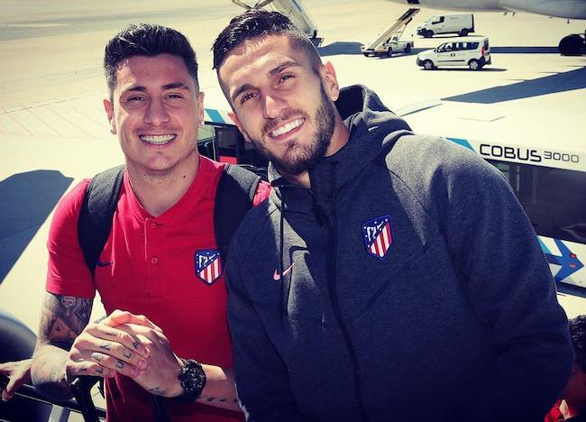 Koke and Jose Maria Gimenez in a May 2018 picture