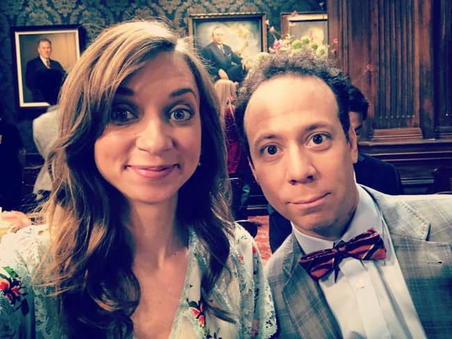 Lauren Lapkus and Kevin Sussman as seen in May 2018