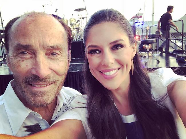 Lee Greenwood and Abby Huntsman at Intrepid Sea, Air & Space Museum in May 2018