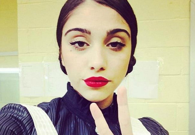Lourdes Leon dressed as a French maid for a play in 2014