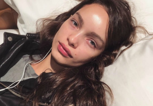 Luma Grothe in a selfie in April 2018
