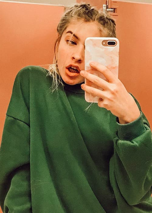 Marla Catherine in an Instagram selfie as seen in December 2017