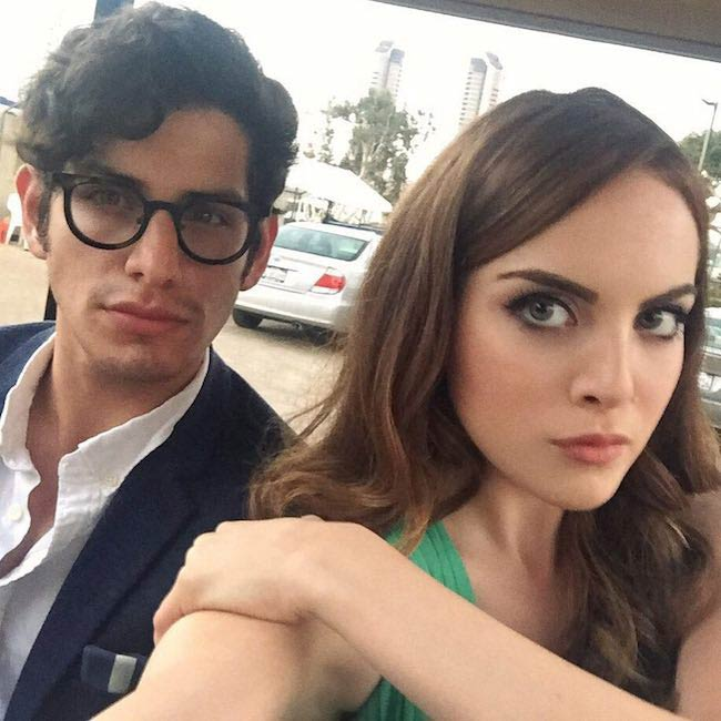 Matt Bennett with Elizabeth Gillies as seen in August 2016