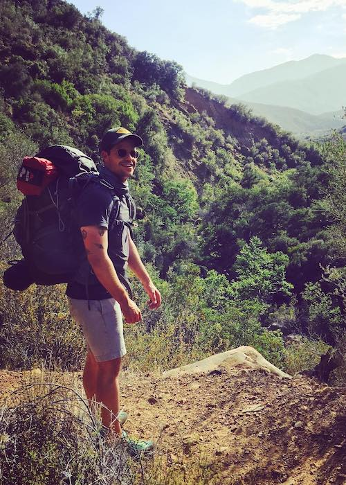 Max Carver while trekking at Ojai, California in May 2016
