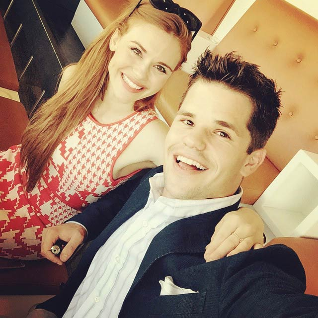 Max Carver with Holland Roden in May 2015