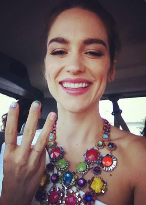 Melanie Scrofano in a selfie in July 2017