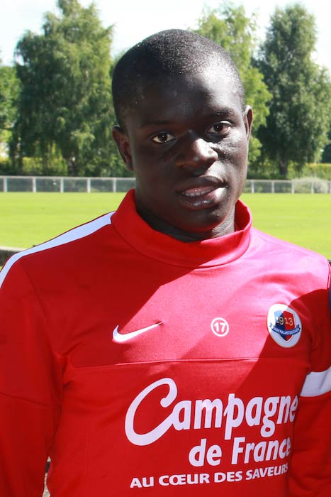 N'Golo Kanté in 2013 after a training in Caen