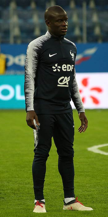 N'Golo Kanté of France preparing for a match with Russia in March 2018